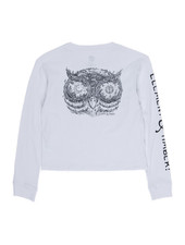 Element TIMBER CROP L/S WHITE