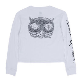 TIMBER CROP L/S WHITE
