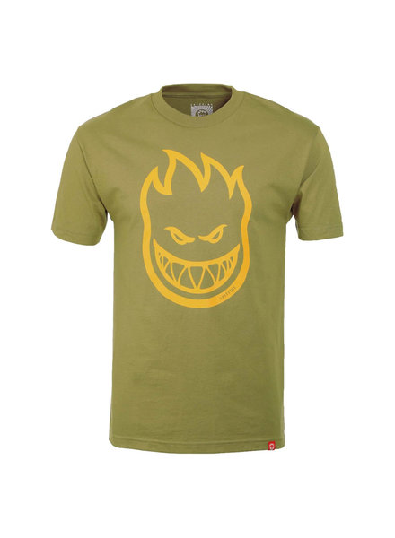 Spitfire TSHIRT S/S BIGHEAD SAFARI GREEN/YELLOW