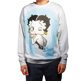 HUF BETTY BOOP AIR BRUSH CREWNECK