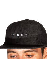 OBEY 6 PANEL FADED BLACK HAT