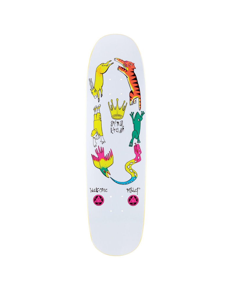 Welcome Skateboards ANIMAL KINGDOM ON CATBLOOD 8.75 (ANIMCAT2WHIT)