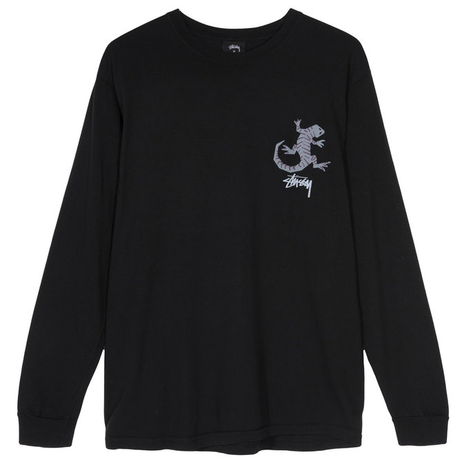 Stüssy Black Gecko Long Sleeve Tee