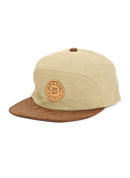 Brixton Khaki 7 Panel Oath Hat