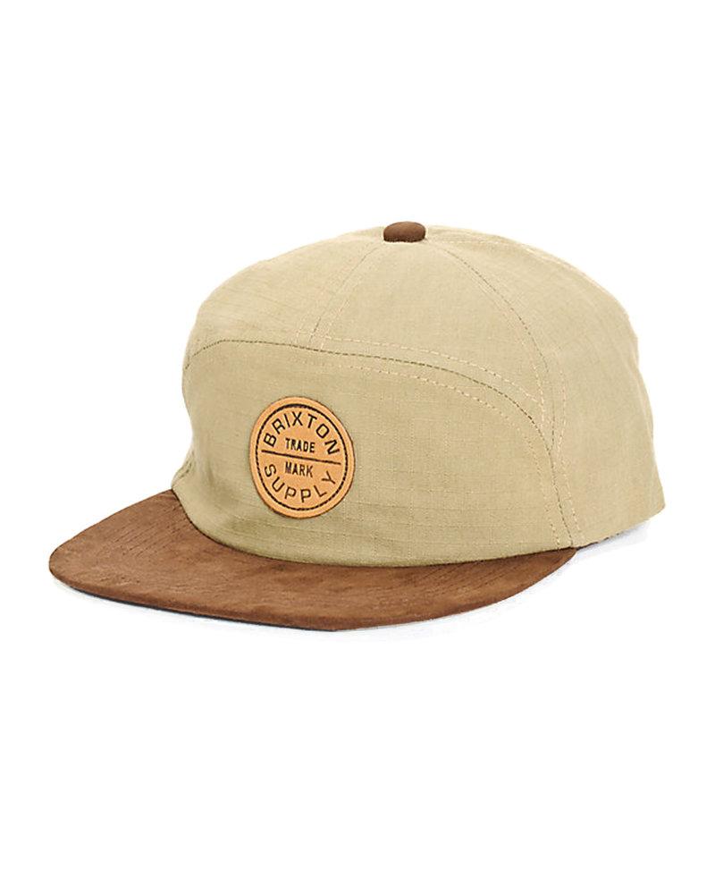Brixton HAT OATH 7 PANEL CAP KHAKI