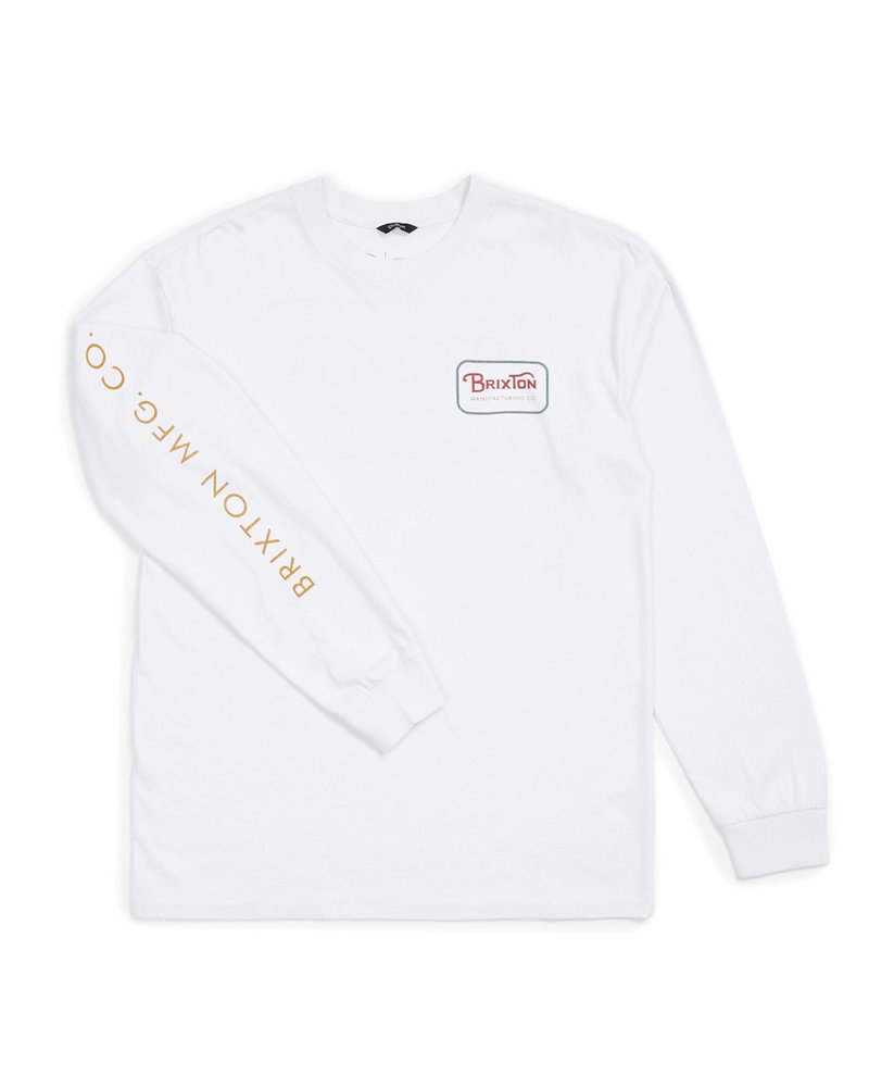 Brixton White Long Sleeve Grade IV Tee