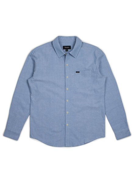 Brixton CHARTER OXFORD L/S WVN LIGHT BLUE CHAMBRAY
