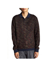 Brixton CYPHER POLO SWEATER NAVY/MAROON