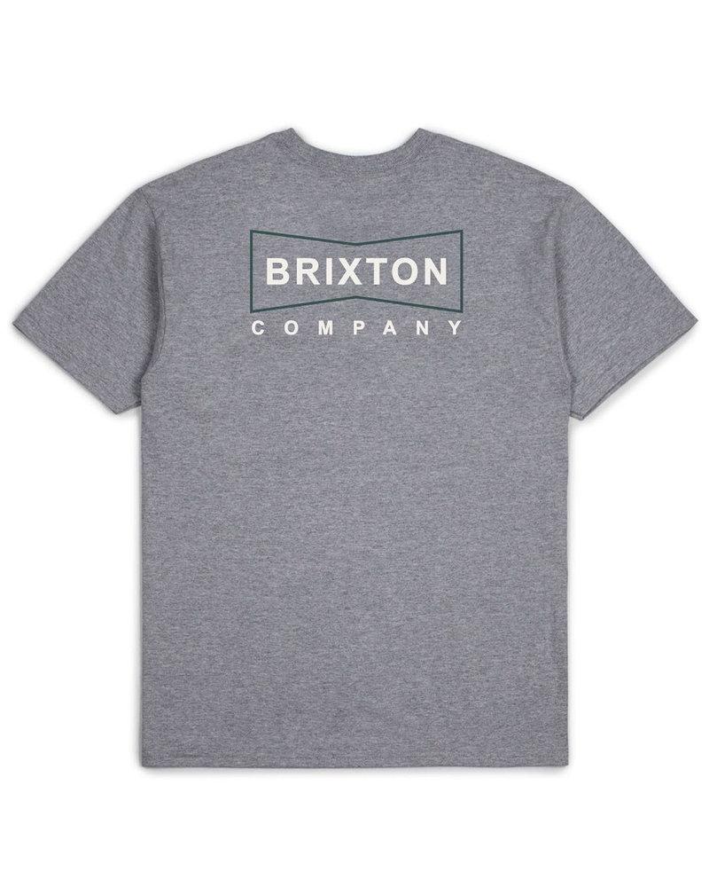 Brixton WEDGE S/S PRT HEATHER GREY