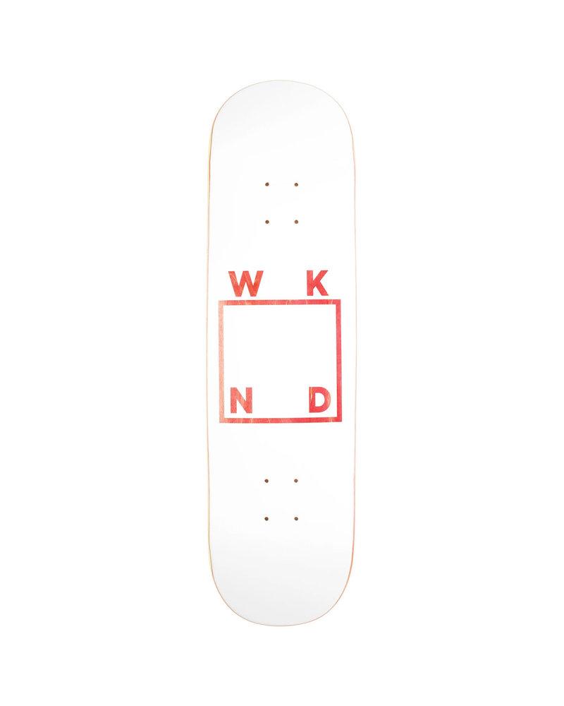 WKND WKND DECK WHITE LOGO VENEERS 8.38
