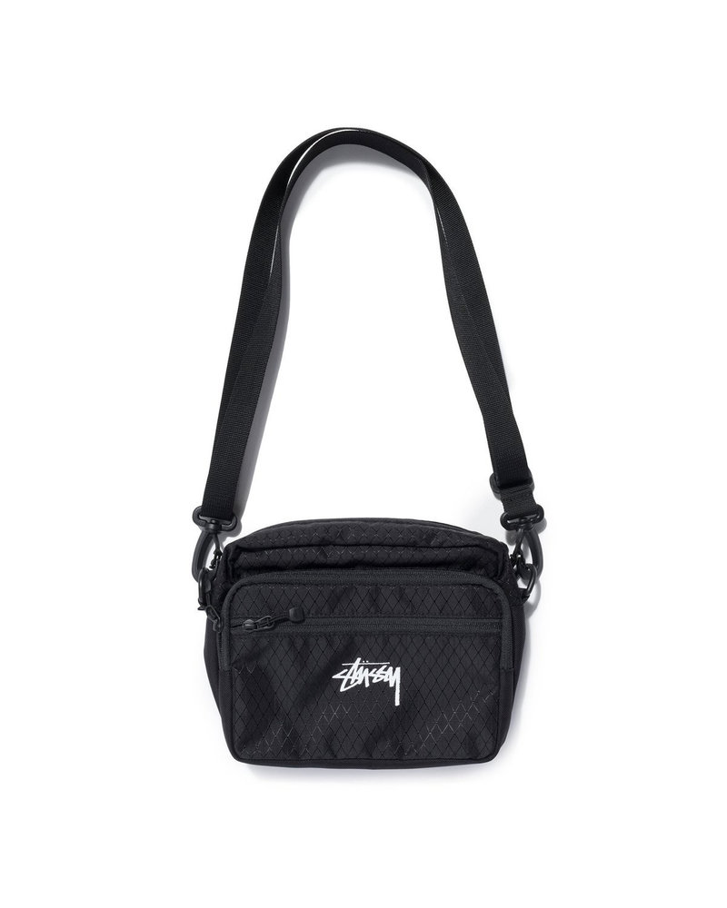 Stüssy DIAMOND RIPSTOP SHOULDER BAG BLK