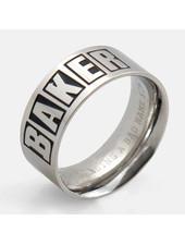 Baker Brand Logo Silver Ring Medium