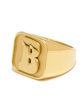 Baker Capital B Gold Ring Small