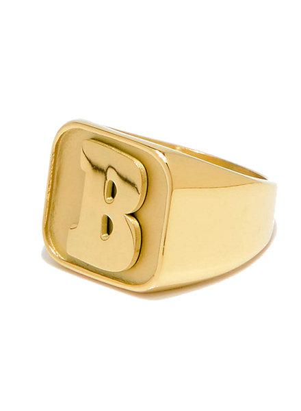 Baker Capital B Gold Ring Medium