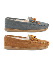 MINNETONKA Sheepskin Hardsole Womens Moccasin