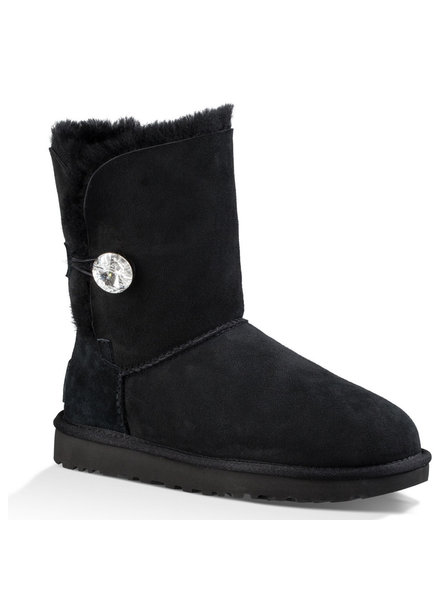 UGG Womens Bailey Button Bling Black