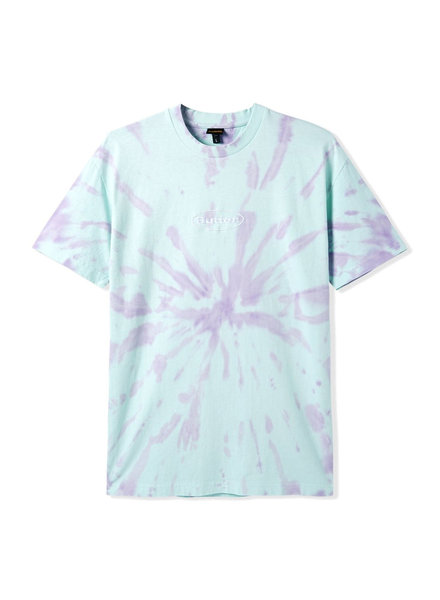 BUTTER Badge Tie Dye Tee, Mint/Grape