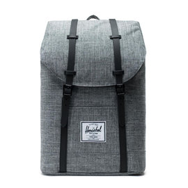 HERSCHEL Retreat 600D Poly Raven Crosshatch/Black Backpack