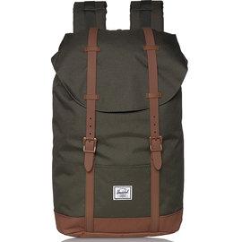Retreat 600D Poly Dark Olive/Saddle Brown Backpack