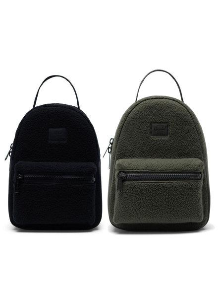 HERSCHEL Nova Mini Sherpa Fleece Dark Olive/Black Backpack