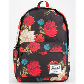 Classic XL 600D Poly Vintage Floral Black Backpack