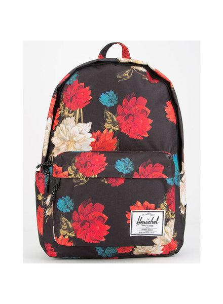 HERSCHEL Classic XL 600D Poly Vintage Floral Black Backpack