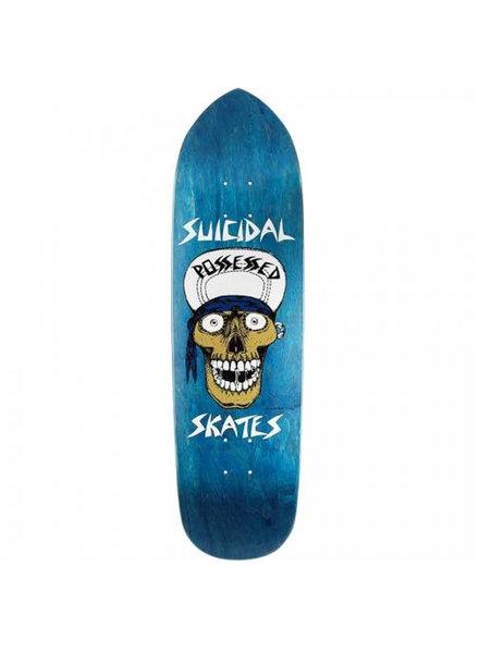 SUICIDAL SKATES Punk Point Skull Blue Deck 8.75