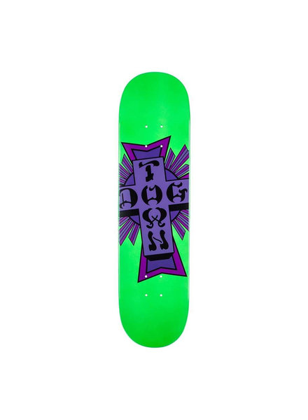 DOGTOWN Street Cross Logo Green/Purple Deck 7.75