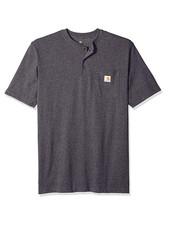 CARHARTT INC. Henley Workwear Pocket Short Sleeve T-Shirt Dark Gray