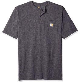 Henley Workwear Pocket Short Sleeve T-Shirt Dark Gray