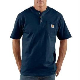 Henley Workwear Pocket Short Sleeve Tee Navy