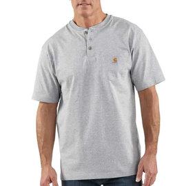 CARHARTT INC. Henley Workwear Pocket Short Sleeve Tee Heather Gray