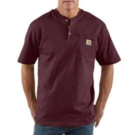 CARHARTT INC. Henley Workwear Pocket Short Sleeve Tee Port