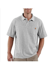 CARHARTT INC. Contractors Work Polo Heather Gray