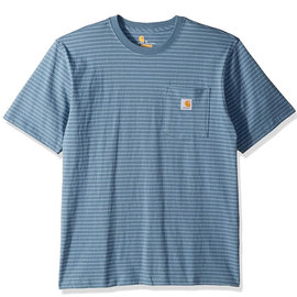 Workwear Pocket Short Sleeve Blue Stripe Tee