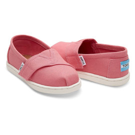 TOMS Bubblegum Pink Canvas Tiny TOMS Classics
