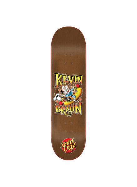 Santa Cruz Skateboards Kevin Braun Hot Dog 8.25