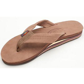 Rainbow Double Layer Dark Brown Men's Sandal