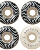 Spitfire Classic White/Black 54mm 99a Wheels