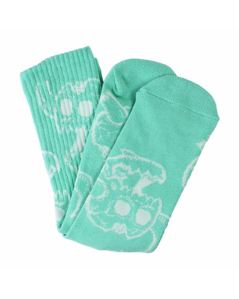 Toy Machine Monster Skull Socks - Aqua