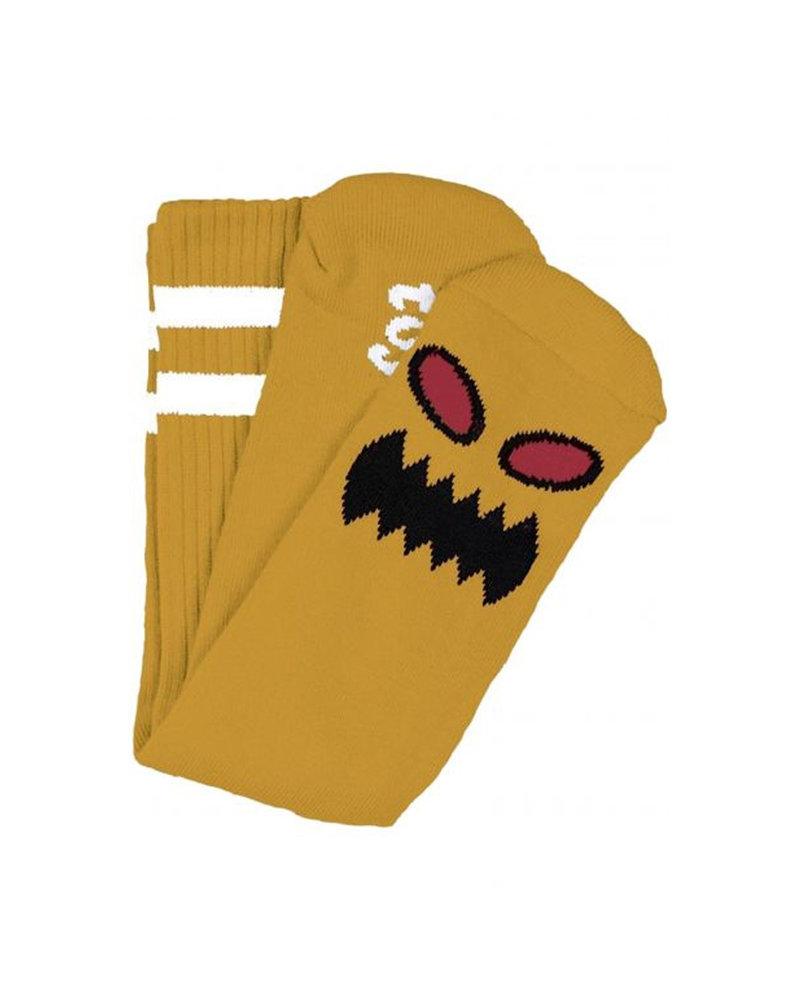 Toy Machine Monster Face Socks - Mustard