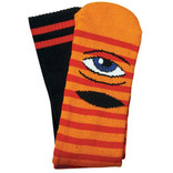 Toy Machine TOY MACHINE SOCKS SECT EYE STRIPE ORG/RED