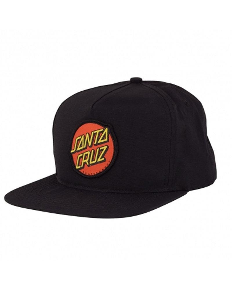 Santa Cruz Skateboards SANTA CRUZ HAT CLASSIC SNAP MID BLK (44441840-94357)
