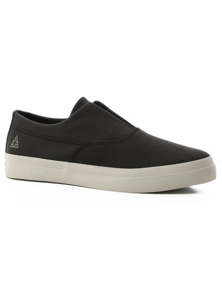 HUF Dylan Leather Slip-On - Black Pebble