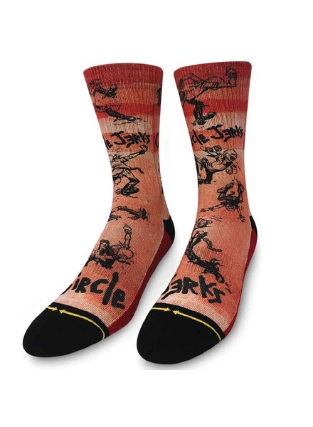 MERGE 4 Circle Jerks Skank Red Crew Socks