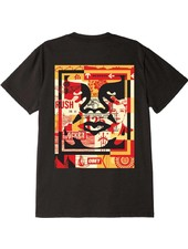 OBEY 3 Face Collage Black Tee