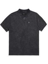 Brixton Black Acid Wash Wales Polo