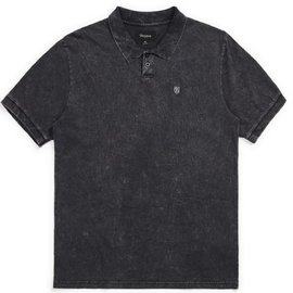 Brixton Black Acid Wash Wales Polo