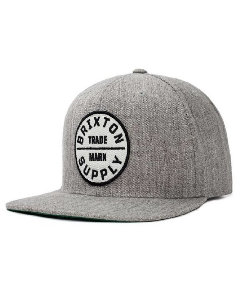 Brixton Heather Grey Oath lll Snapback