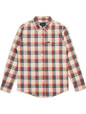 Brixton Blue/Orange Charter Plaid Woven Tee